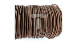 Kolorowy przewód mieszkaniowy H03VV-F (OMY) 3G 0,75 żo w oplocie tekstylnym jednobarwny czekoladowy PPJBCHNN11 /bębnowy/