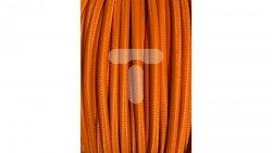 Kolorowy przewód mieszkaniowy H03VV-F (OMY) 3G 0,75 żo w oplocie tekstylnym jednobarwny pomarańczowy PPJBPONN02 /bębnowy/