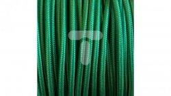 Kolorowy przewód mieszkaniowy H03VV-F (OMY) 3G 0,75 żo w oplocie tekstylnym jednobarwny zielony PPJBZNNN04 /bębnowy/