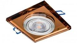 Oprawa szklana GLASSO-K-A kwadrat amber / bursztyn 90x8 halogenowa wpuszczana  LUX06746