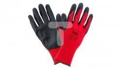 Rękawice robocze 1003 poliester/latex rozmiar 9 1003_9