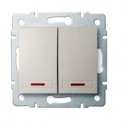 ??cznik zwierny podwójny LED DOMO 01-1023-203 kr 24775