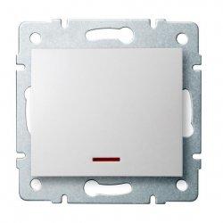 Łącznik jednobiegunowy z LED LOGI 02-1110-102 bi 25078