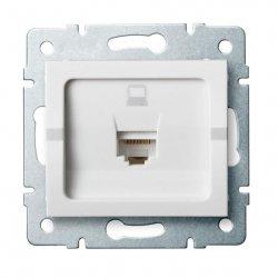 Gniazdo komputerowe pojedyncze, (RJ45Cat 5e Jack) LOGI 02-1390-002 bi 25108