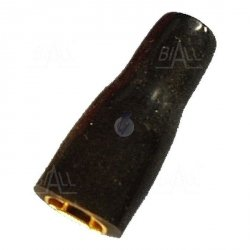 ZKF-2.5mm2-4.8BK Konektor żeński złocony, czarna osłona
