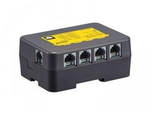 CMD-104VU umożliwia dołączenie 4 kamer CCTV do magistrali systemowej, zasilanie 14V DC w zestawie