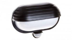 Oprawa oświetleniowa ścienna SAMUM z czujnikiem ruchu 180 stopni i przesłoną 60W E27 IP44 klosz mleczny czarna OR-OP-304BE27ZMR