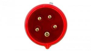 Wtyczka przenośna 16A 5P 400V czerwona IP44 TURBO SHARK 015-6TT