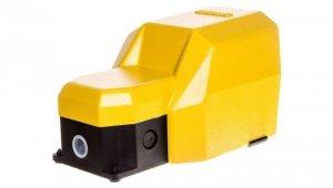 Wyłącznik nożny pojedynczy z osłoną żółty metal 2Z 2R   1Z 1R 2 kroki T0-PDKS11VX20