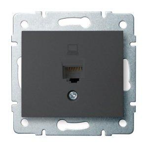 Gniazdo komputerowe pojedyncze (RJ45Cat 6 Jack) DOMO 01-1400-041 gr 24931