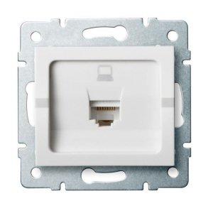 Gniazdo komputerowe pojedyncze (RJ45Cat 5e Jack) LOGI 02-1390-002 bi 25108