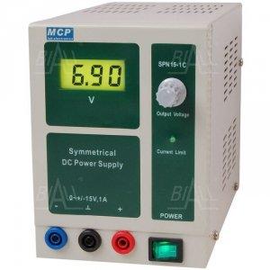 Zasilacz lab symetryczny SPN15-1C DC +15V-15V/1A  MCP
