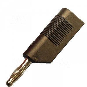 Wtyk banan 4mm do poł. wież. WW3-BK 60V=/30V~ 10A czarny