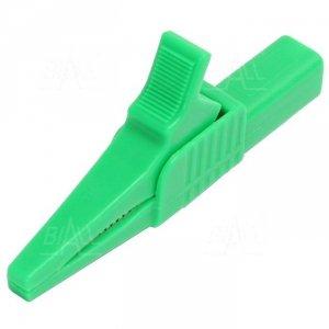 Krokodylek bezp. gn. 4mm KK262-GN CAT II 1000V 19A zielony