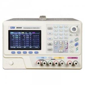 Zasilacz lab programowalny M5005 DC 2x 30V/5A, 1x 2,5V/3,3V/5V/3A rozdz.1mV/1mA MCP