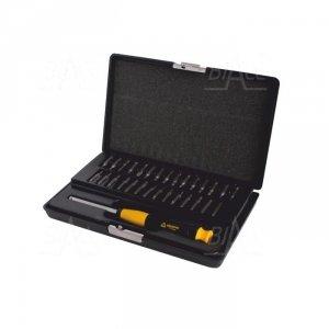 Zestaw narzędzi ESD uchwyt + bity (SL,PH,PZ,TORX,HEX) WhirlPower  112-1230