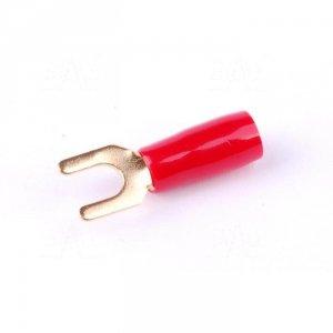 ZKW8-6.5R Końcówka widełkowa złocona M6