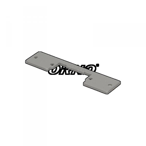 Szyld prosty, symetryczny, krótki, niklowany,110mm