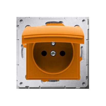 Pokrywa do gniazda wtyczkowego z uziemieniem - do wersji IP44- klapka w kolorze pokrywy pomarańczowy