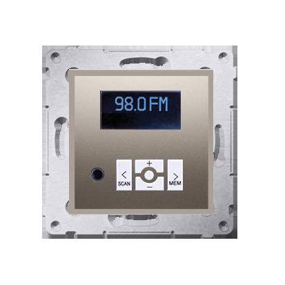 Radio cyfrowe z wyświetlaczem złoty mat, metalizowany