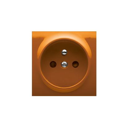 Pokrywa do gniazda wtyczkowego pojedynczego z uziemieniem pomarańczowy