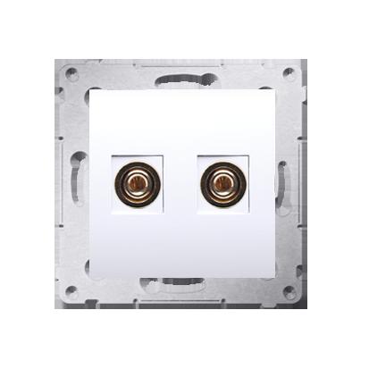 Gniazdo głośnikowe pojedyncze biały