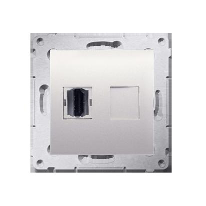 Gniazdo HDMI pojedyncze kremowy