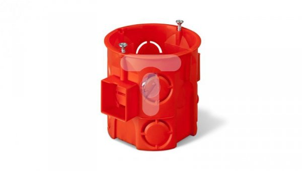 Puszka podtynkowa 60mm głęboka z wkrętami łączona ceglasty PK-60 PRO 0285-01 /60szt/