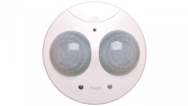 Czujnik obecności i ruchu 360st. 5-1200 lux 1 kanałowy sufitowy biały EE810