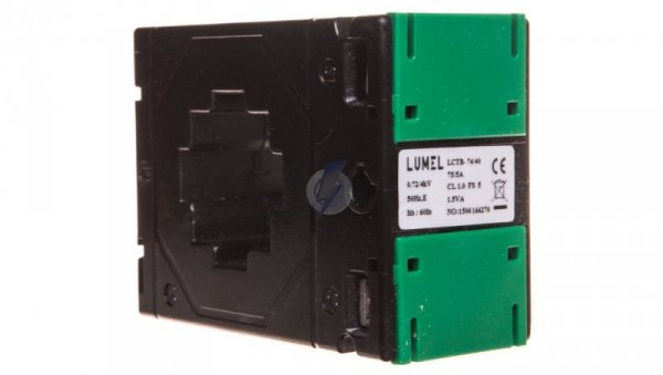 Przekładnik prądowy z otworem na szynę 74/40 (45) 75A/5A klasa 1 LCTB 7440450075A51