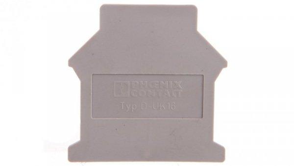 Pokrywa końcowa 42,5x1,5x54mm szara D-UK 16 3006027 /50szt./