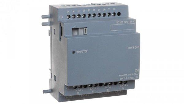 Moduł rozszerzeń zasilanie 24V DC 8 wejść cyfrowych 24V DC 8 wyjść przekaźnikowych 4TE 6ED1055-1NB10-0BA2