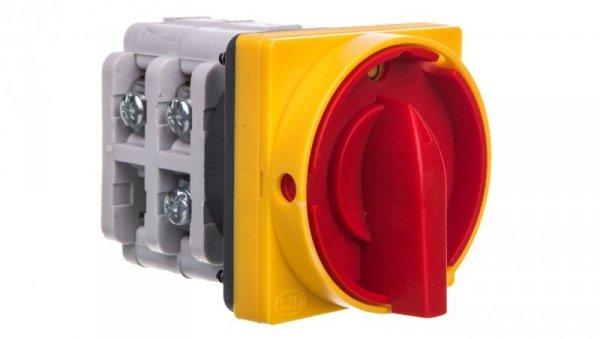 Łącznik krzywkowy 0-1 63A 3P zatablicowy z płytką przednią zamykany na kłódkę ŁUK 63-15 916358