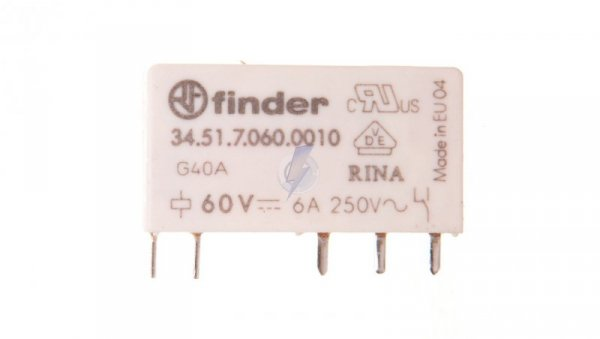 Przekaźnik miniaturowy 1P 6A 60V DC 34.51.7.060.0010