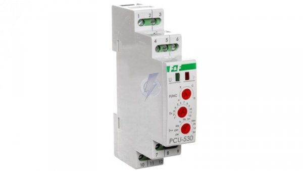 Przekaźnikczasowyuniwersalny 3P 8A 0,1s-576h 100-264V AC/DC wielofunkcyjny PCU-530