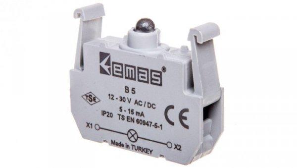 Element podświetlający biały 12-30V AC/DC do przycisków B LED T0-B5