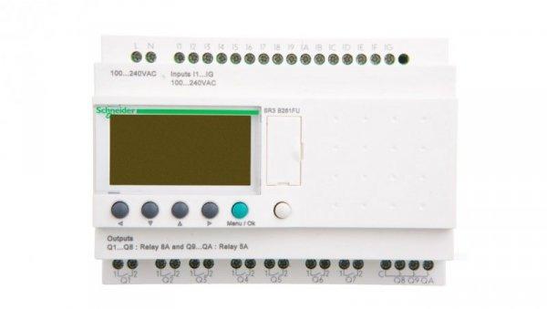 Sterownik programowalny 16 wejść 10 wyjść 100-240V AC RTC/LCD ZelioSR3B261FU