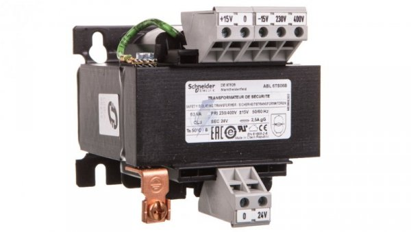 Transformator 1-fazowy 63VA 230(400)V/24V ABL6TS06B