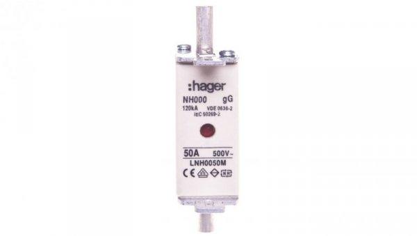 Wkładka bezpiecznika NH000 50A 500V gG LNH0050M