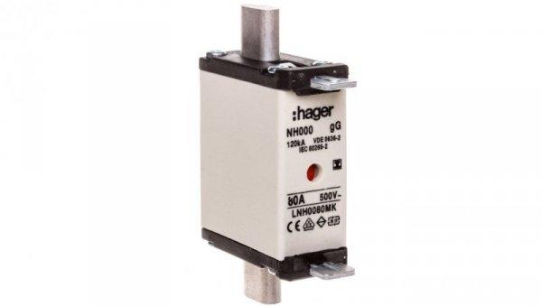 Wkładka bezpiecznikowa NH000 80A gG 500V WT-000 LNH0080MK