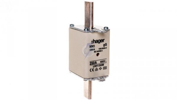 Wkładka bezpiecznikowa NH1 250A 500V gG LNH1250M