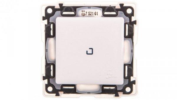 VALENA LIFE Łącznik jednobiegunowy IP44 z podświetleniem biały 752161