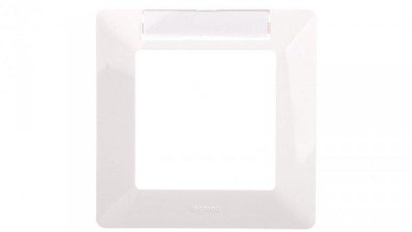 VALENA LIFE Ramka pojedyncza z etykietą biała 754011