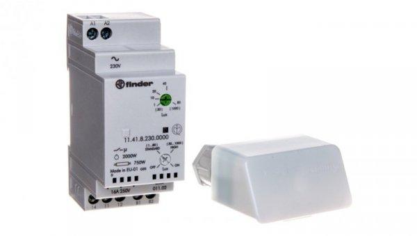 Wyłącznik zmierzchowy 1P 16A 230V AC 35mm IP20 czujnik zewnętrzny IP54 1-80lx 11.41.8.230.0000