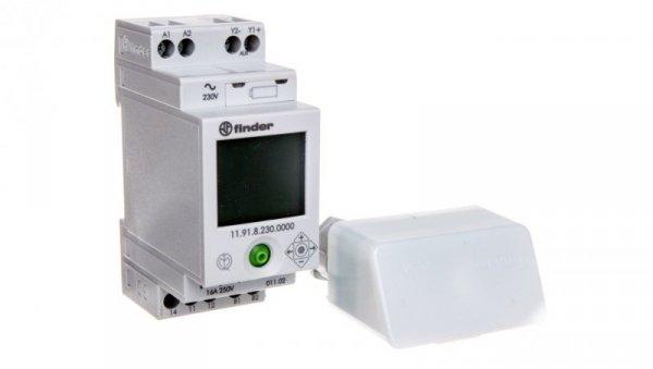 Wyłącznik zmierzchowy/czasowy 1P 16A 230V AC wyjście pom. dla 19.91 11.91.8.230.0000