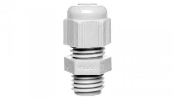 Dławnica kablowa poliamidowa M12 IP68 HELUTOP HT-M12 jasnoszara 93908