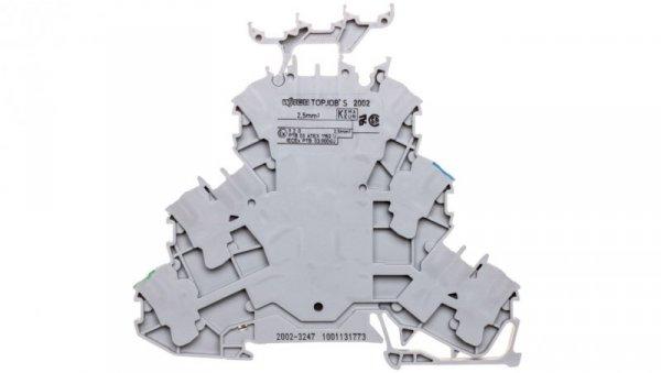 Złączka 3-piętrowa 2,5mm2 PE/N/L szara TOPJOBS 2002-3247