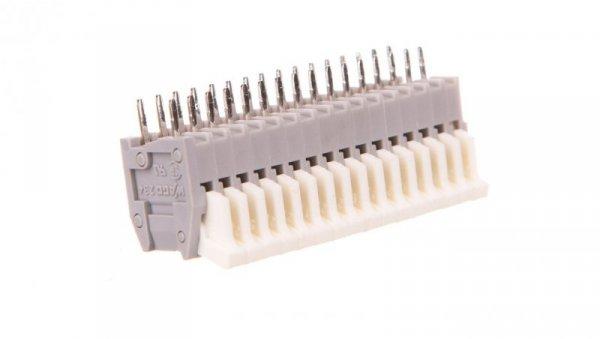 Listwa zaciskowa do płytek drukowanych 16-biegunowa szara raster 2,5mm 234-216 /25szt./