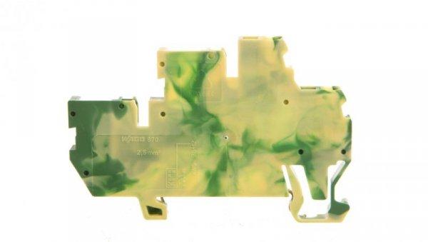Złączka dwupiętrowa bazowa X-COM 2-przewodowa / 2-pinowa żółto-zielona 870-107 /50szt./