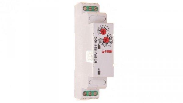 Przekaźnik czasowy jednofunkcyjny 1P 10A 0,1sek-10dni 12-240V AC/DC 50/60 Hz MT-TWU-17S-11-924 862020